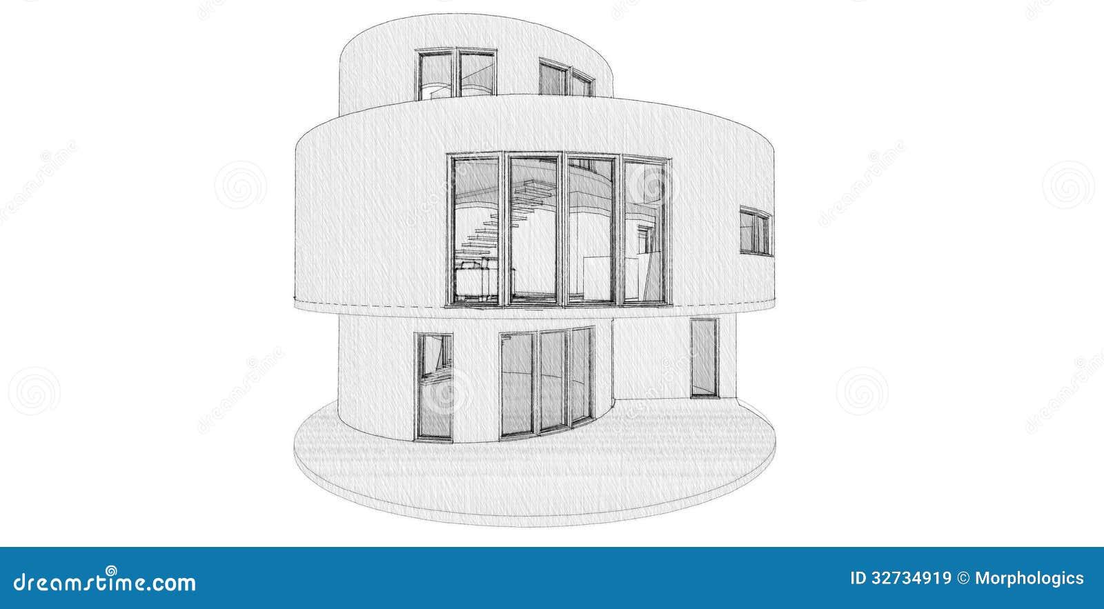 Rundes Haus Lizenzfreie Stockbilder Bild 32734919