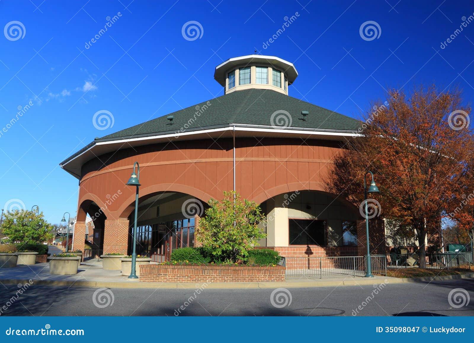 Rundes Haus Stockbild Bild Von Vereinigt Gebaude Ziegelstein