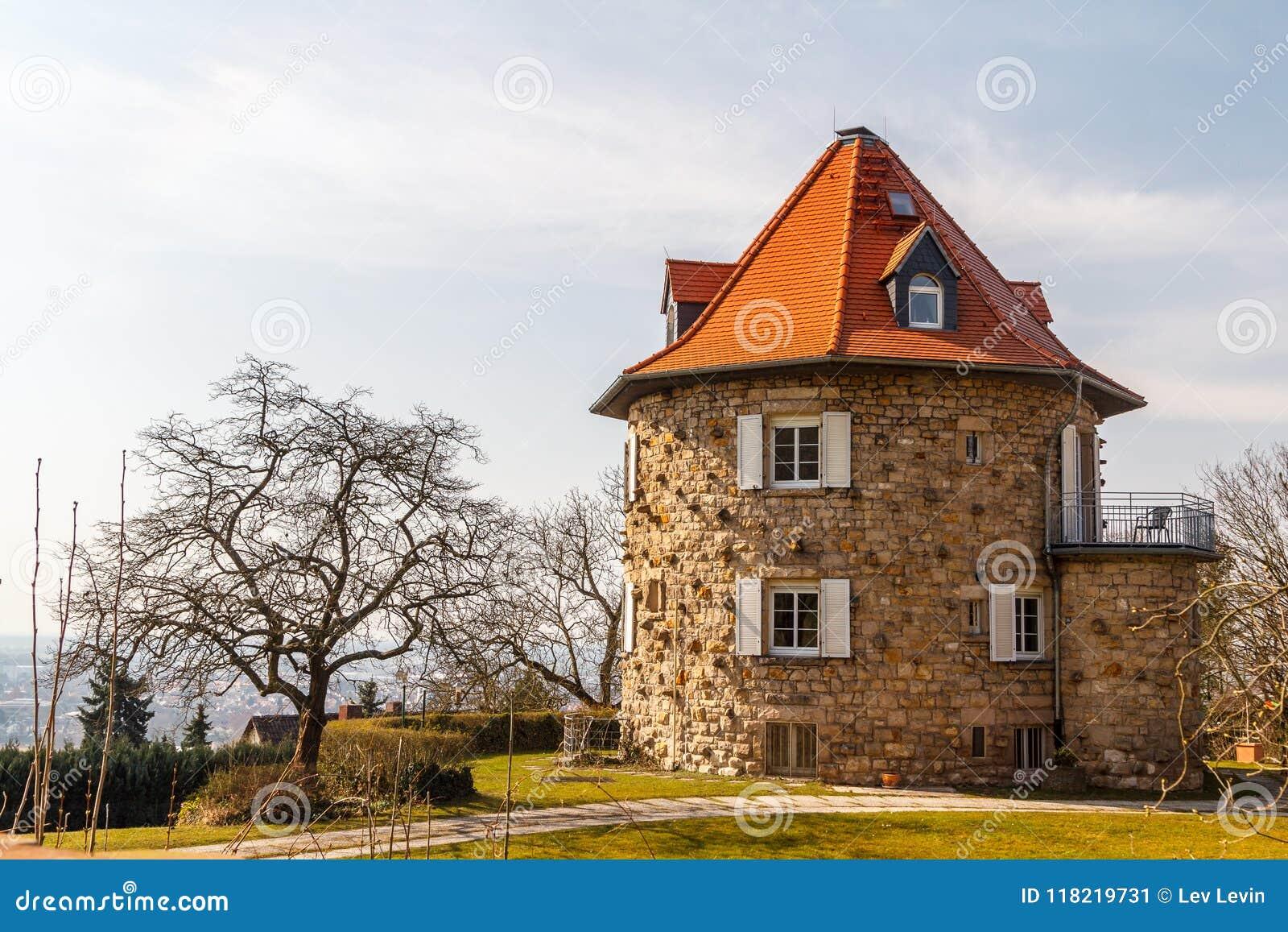 Rundes Haus In Heppenheim Kleinstadt Stockbild Bild Von Braun