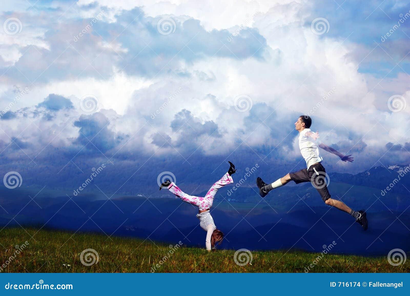 Runing in einer Luft