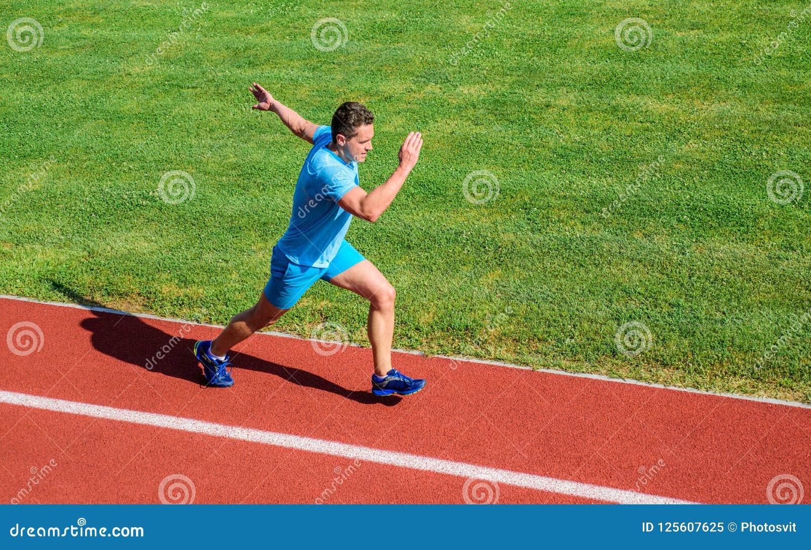8ad79c7b24 Runner Focused On Result. Short Distance Running Challenge. Boost ...