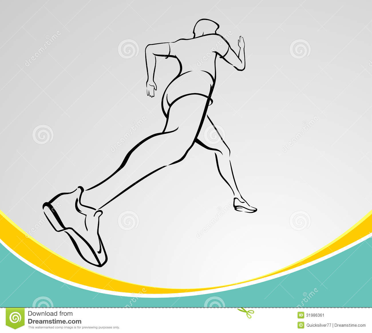 Abstract dynamic picture of man running