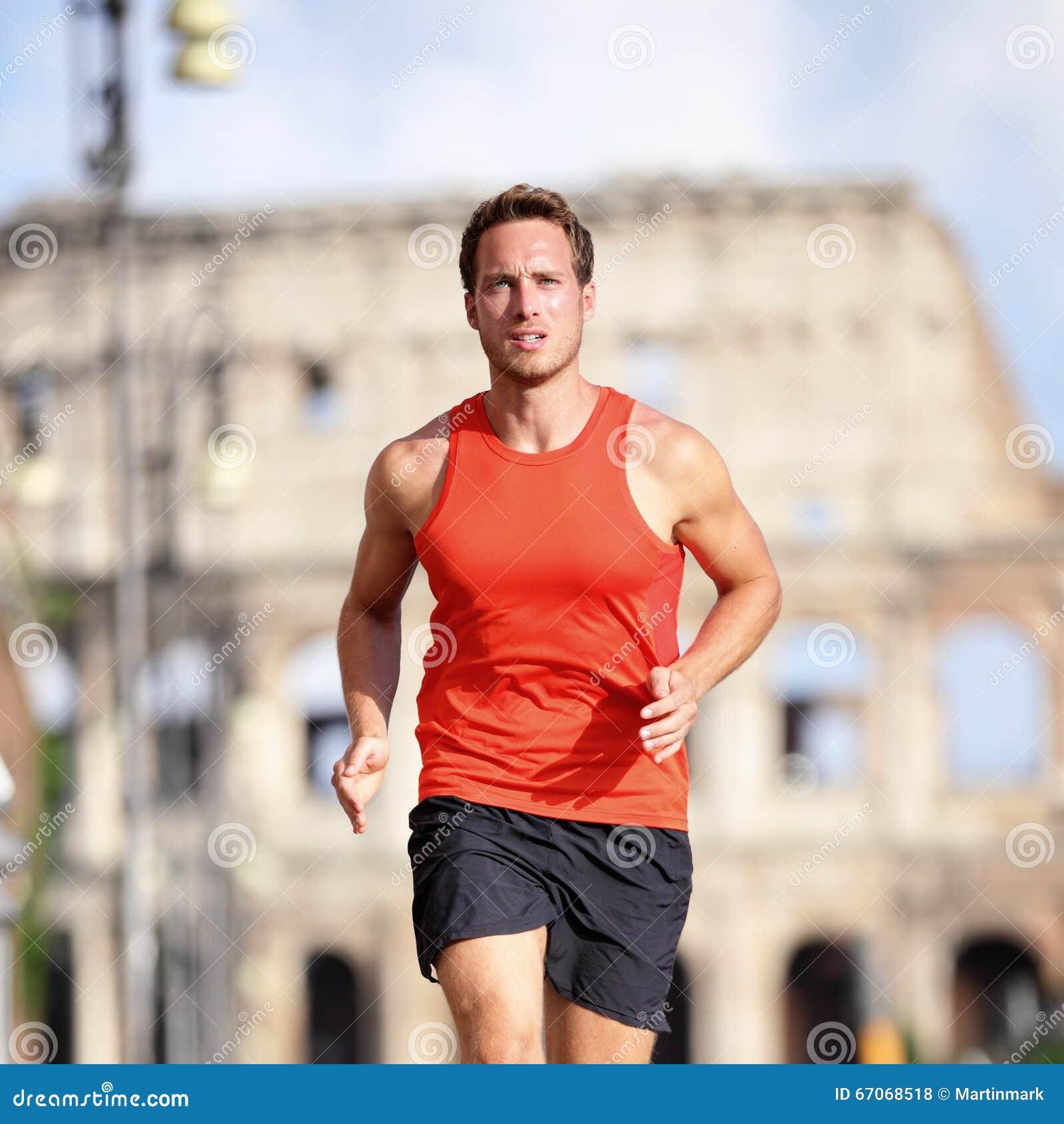 Middle aged man running in a marathon Stock Photo ... |Marathon Man Running