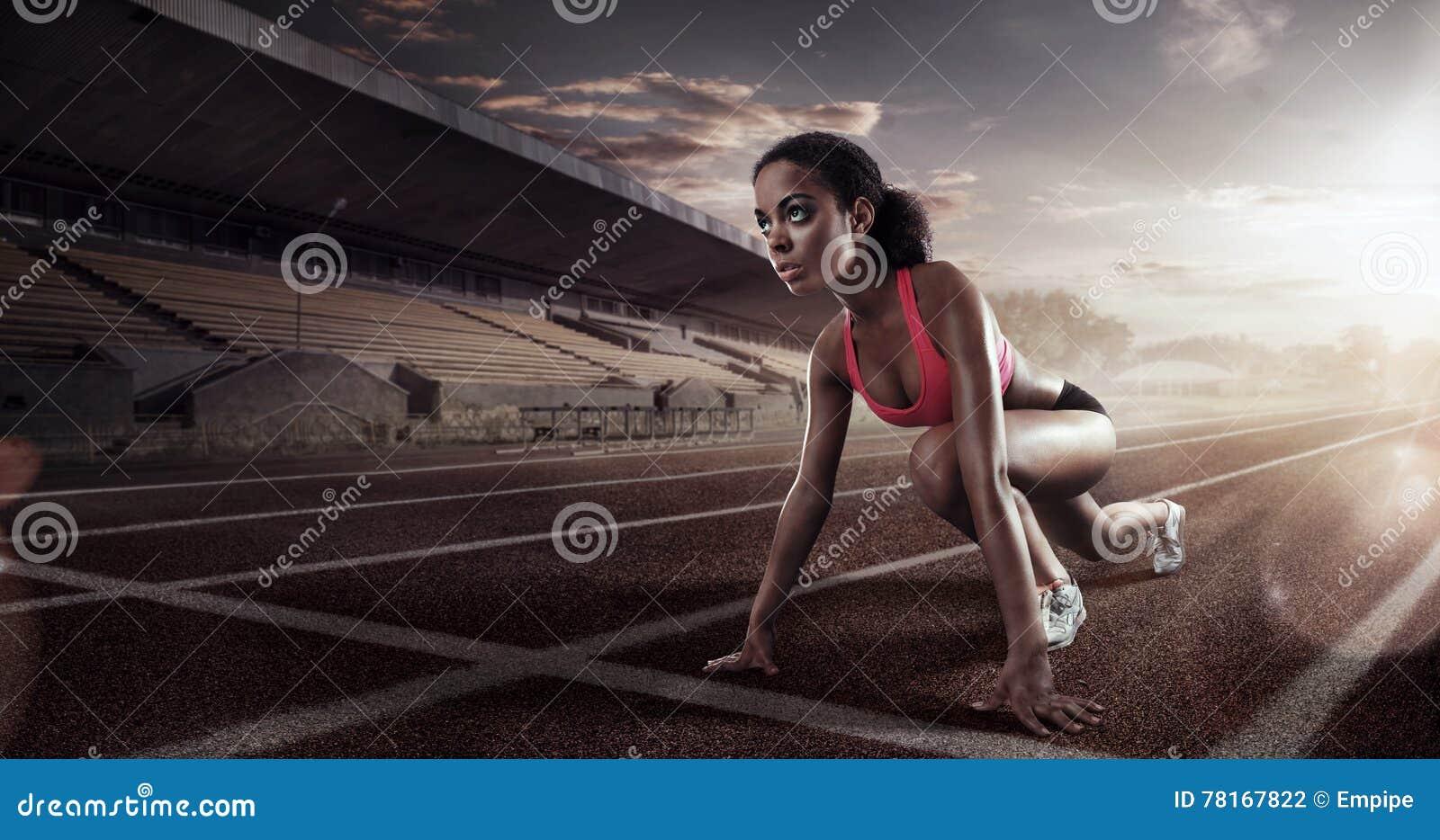 Runner on the start line