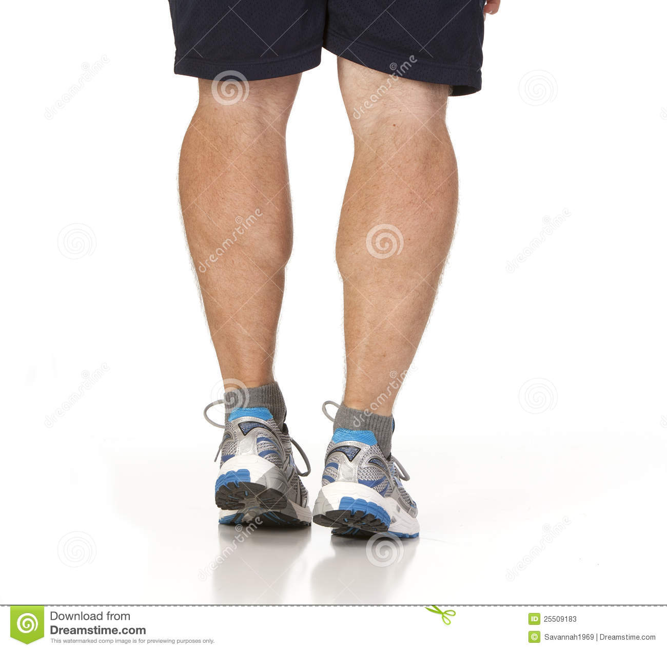 Runner Stretching Calf Muscles Of Legs Stock Image Image Of Calf