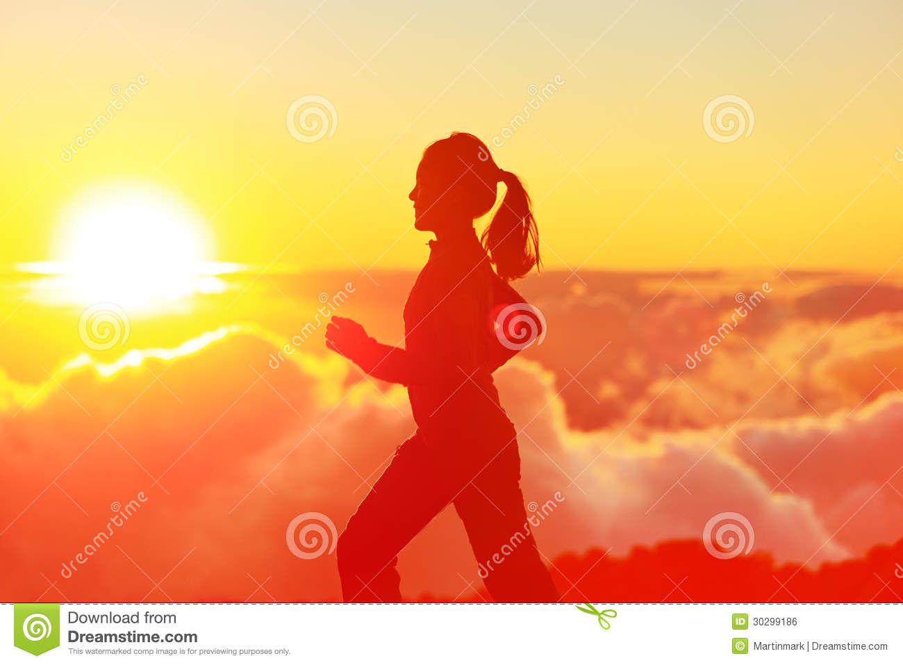 Young Woman Jogging In Mountains Stock Photos & Young Woman ...