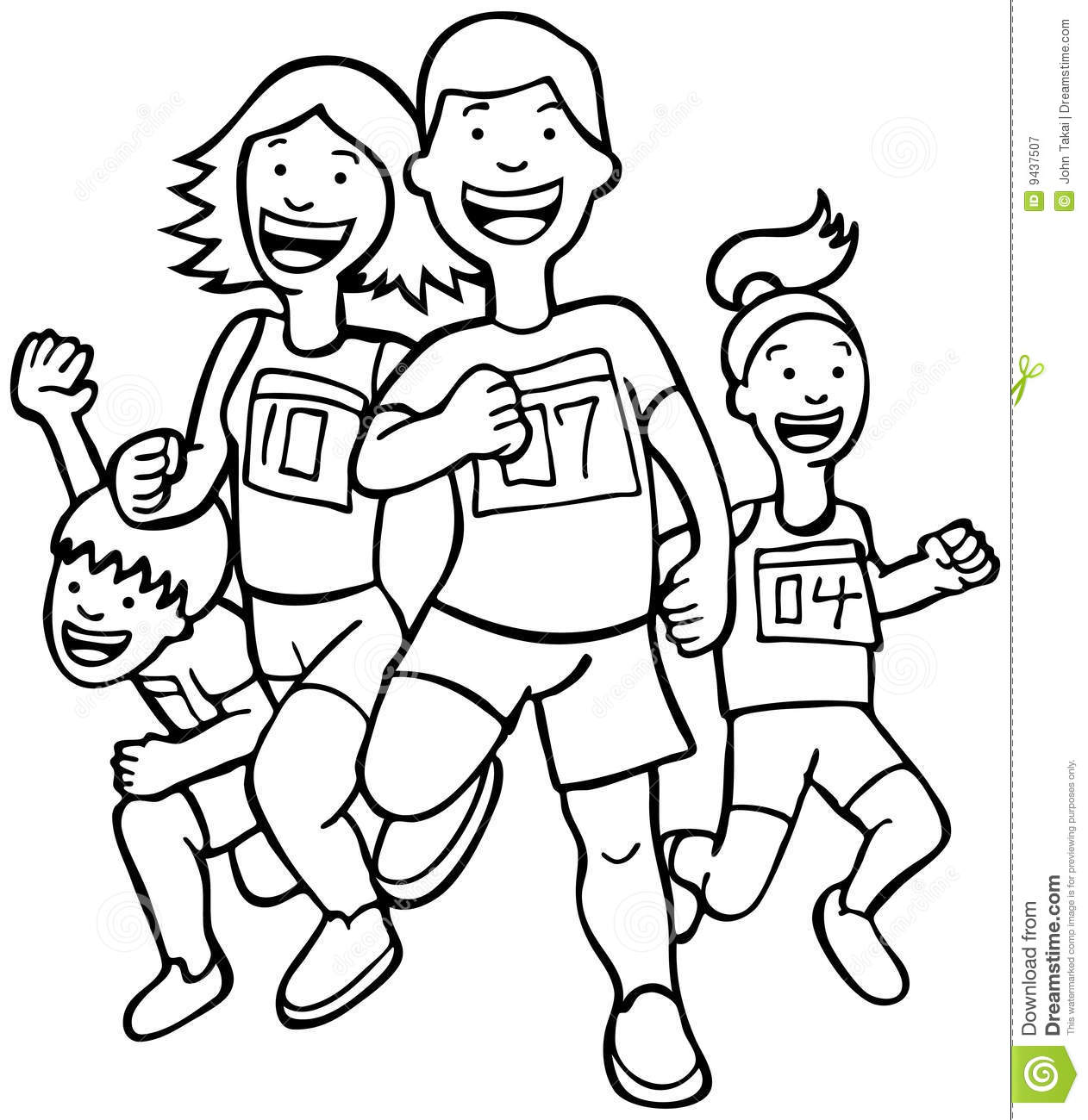 Runners - Black And White Royalty Free Stock Photography - Image ...