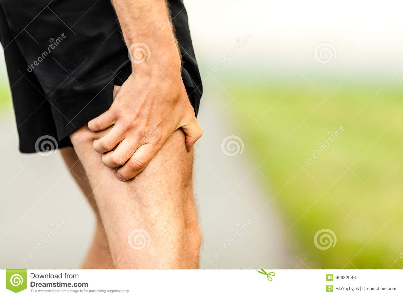 Runners Leg Pain Injury Stock Photo - Image: 40982946