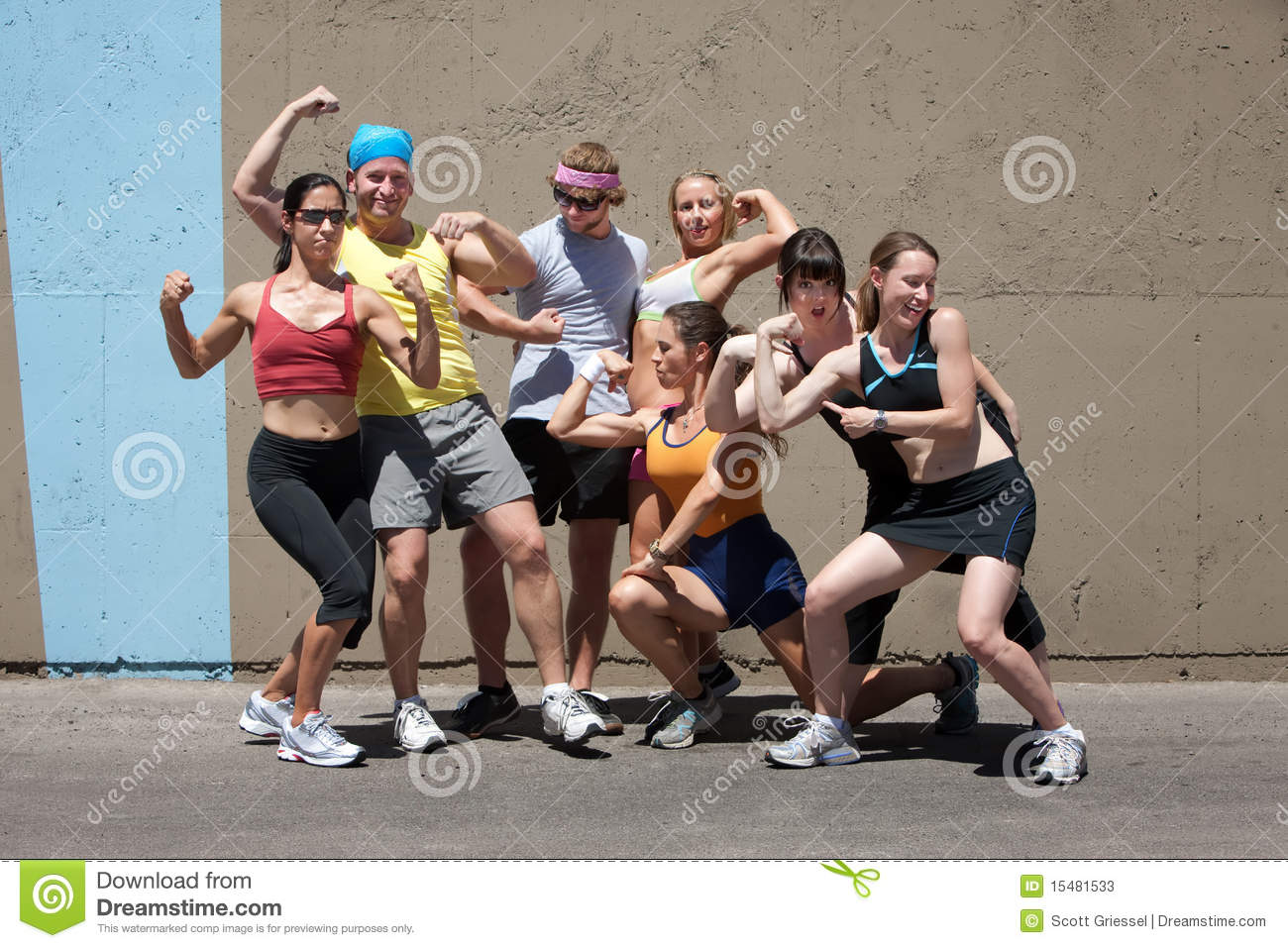 Runners Pose For Muscle Shot Stock Image - Image of exercise
