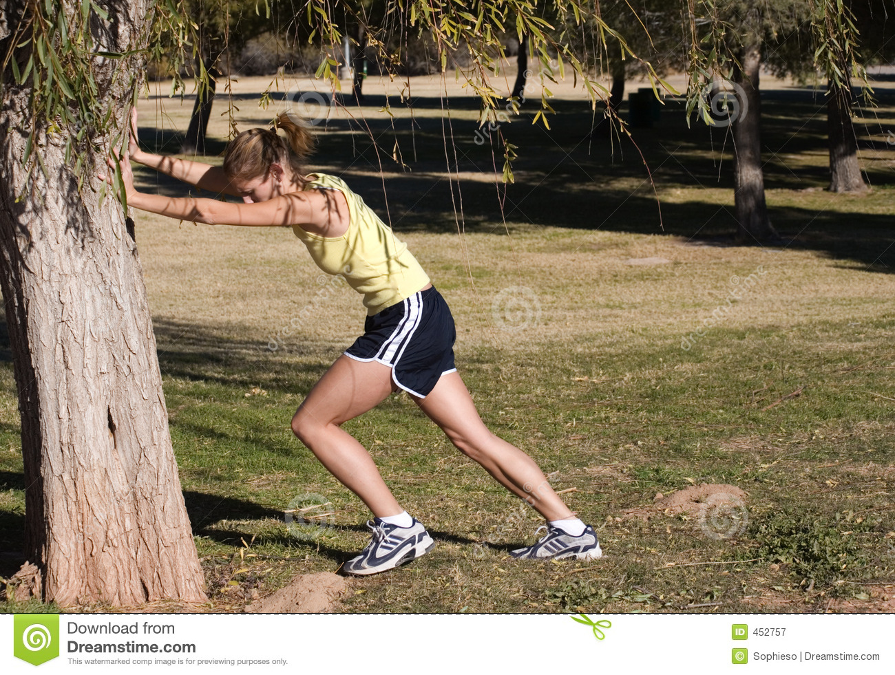 Download Runners Stretch stock image. Image of woman, healthy, exercise - 452757