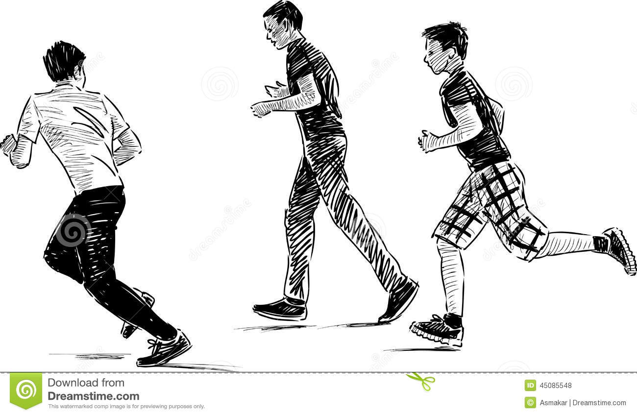 It is a graphic of Obsessed Boy Running Drawing