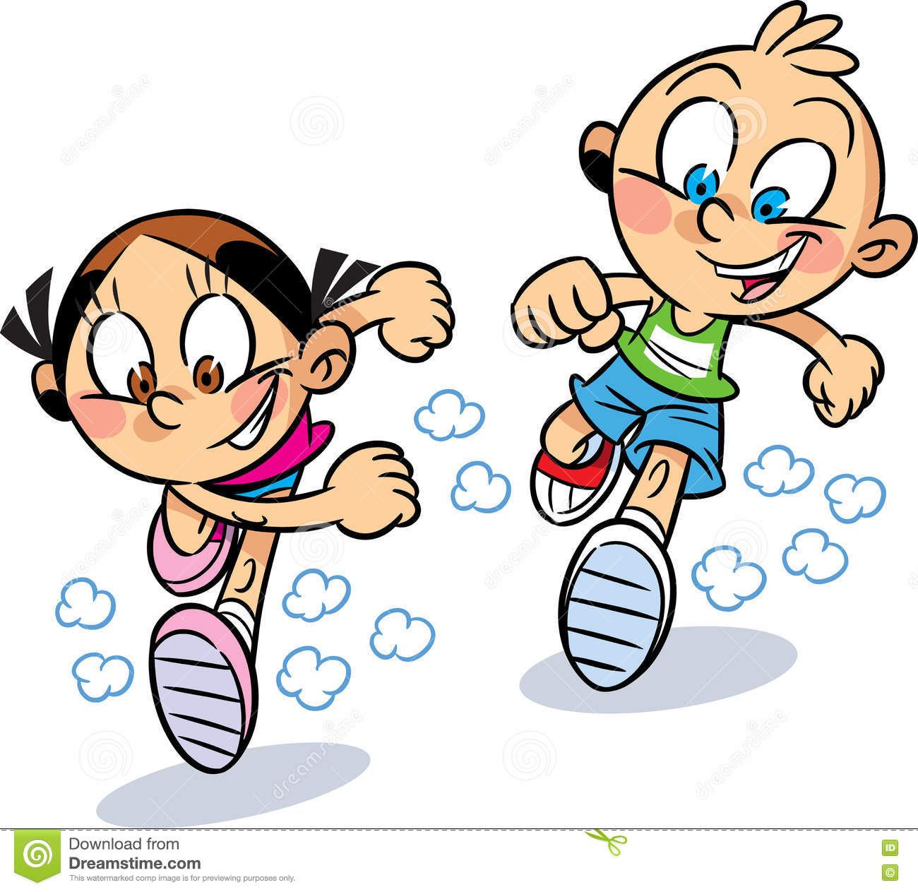 Image result for cartoon child running