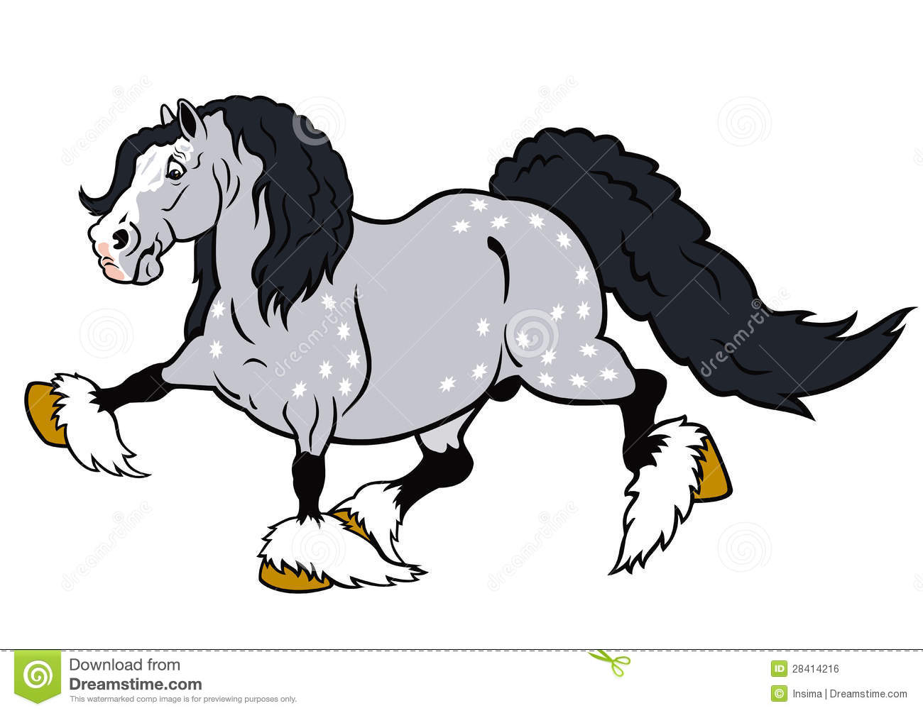 White Draft Horse Stock Illustrations – 90 White Draft Horse Stock ...