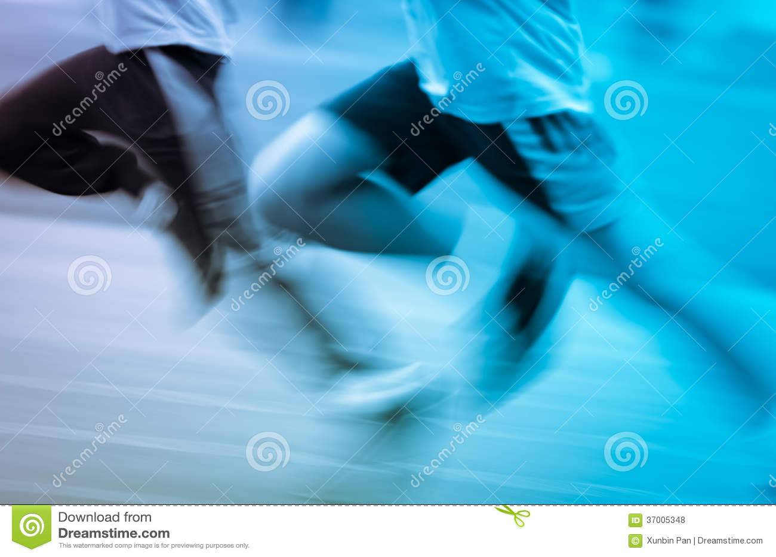 Running child on sport track
