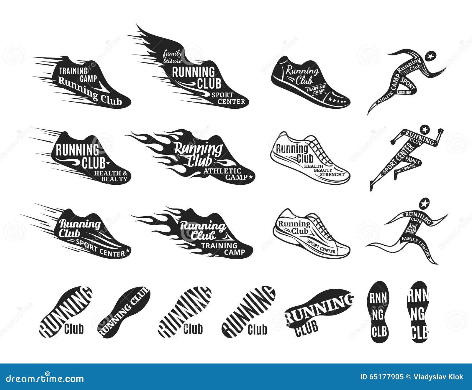 the running design royaltyfree illustration