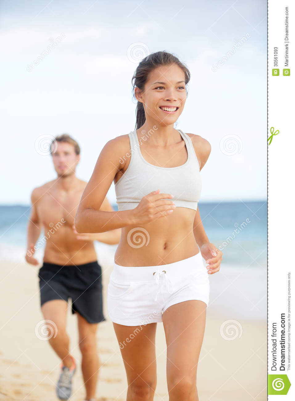 Male and Female Fitness Models