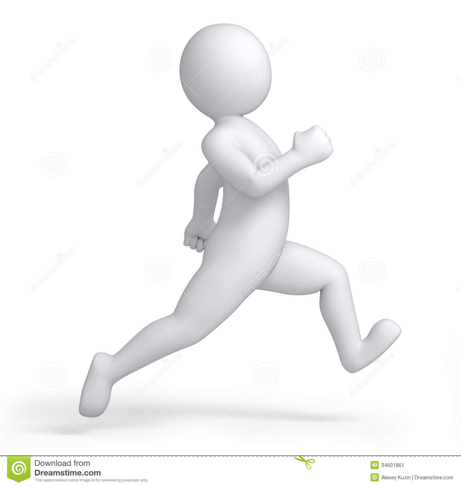Running 3d Human Stock Illustration Illustration Of