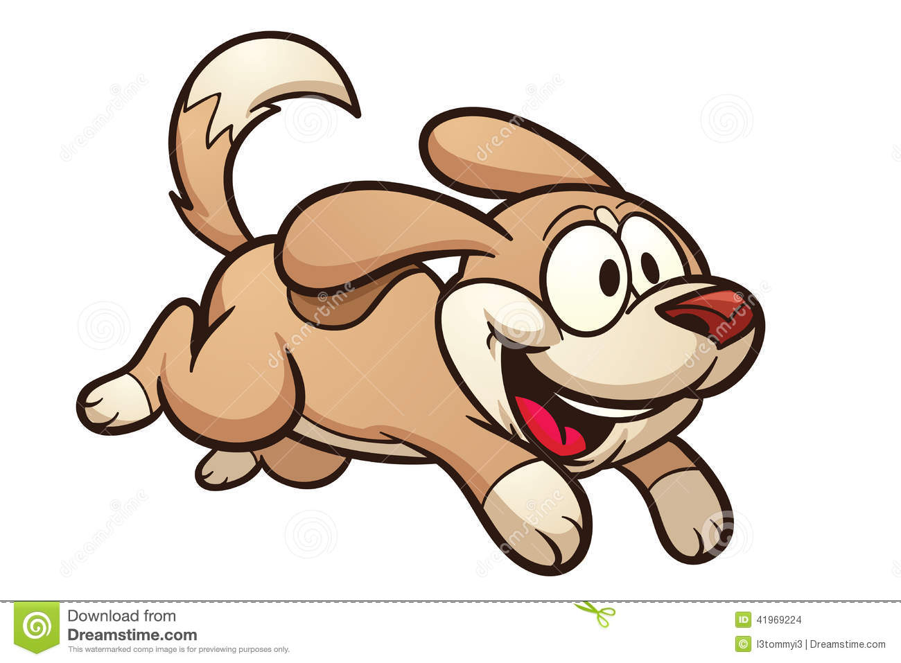 running dog cartoon
