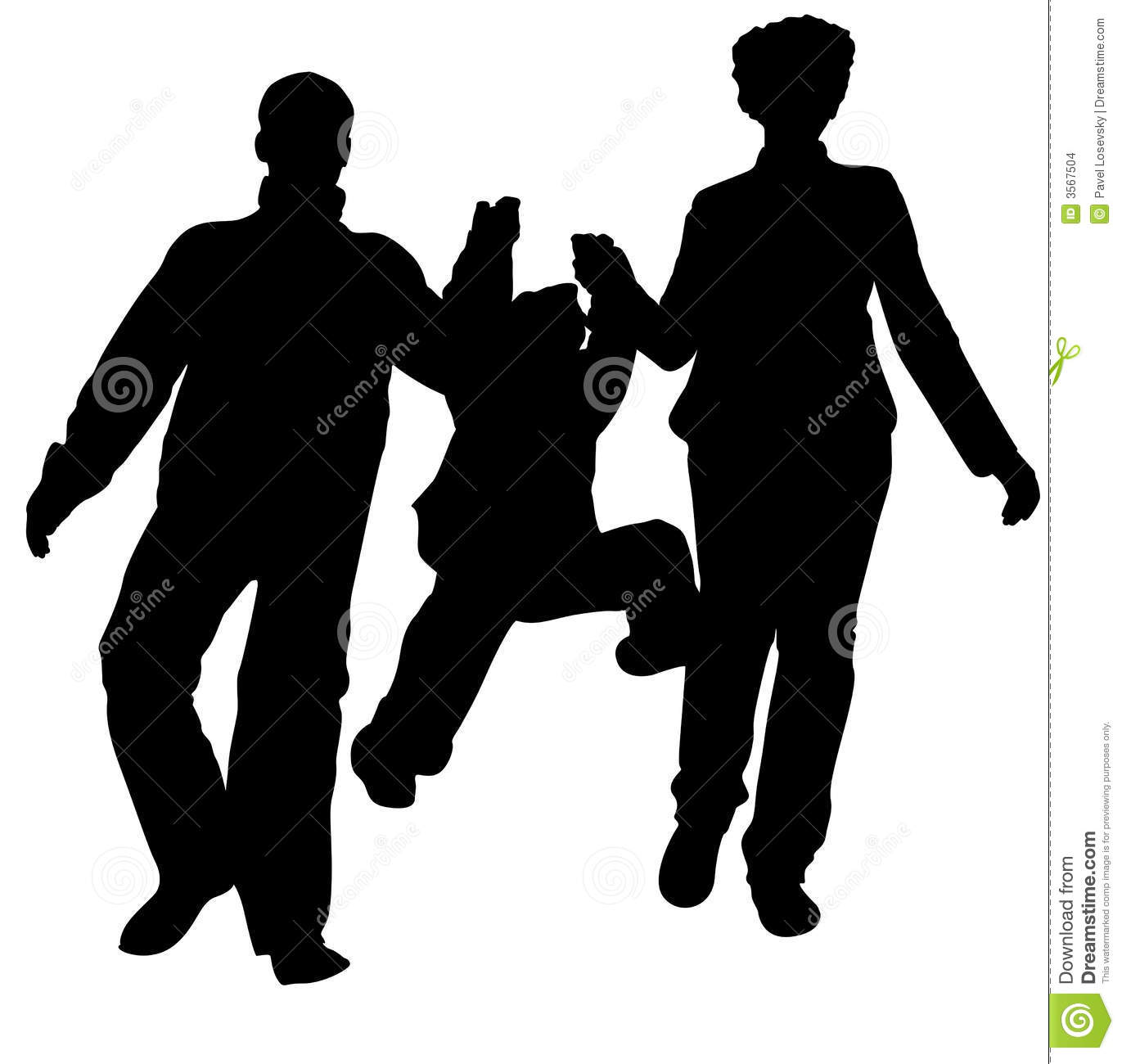 Running Family Silhouette Stock Images Image 3567504