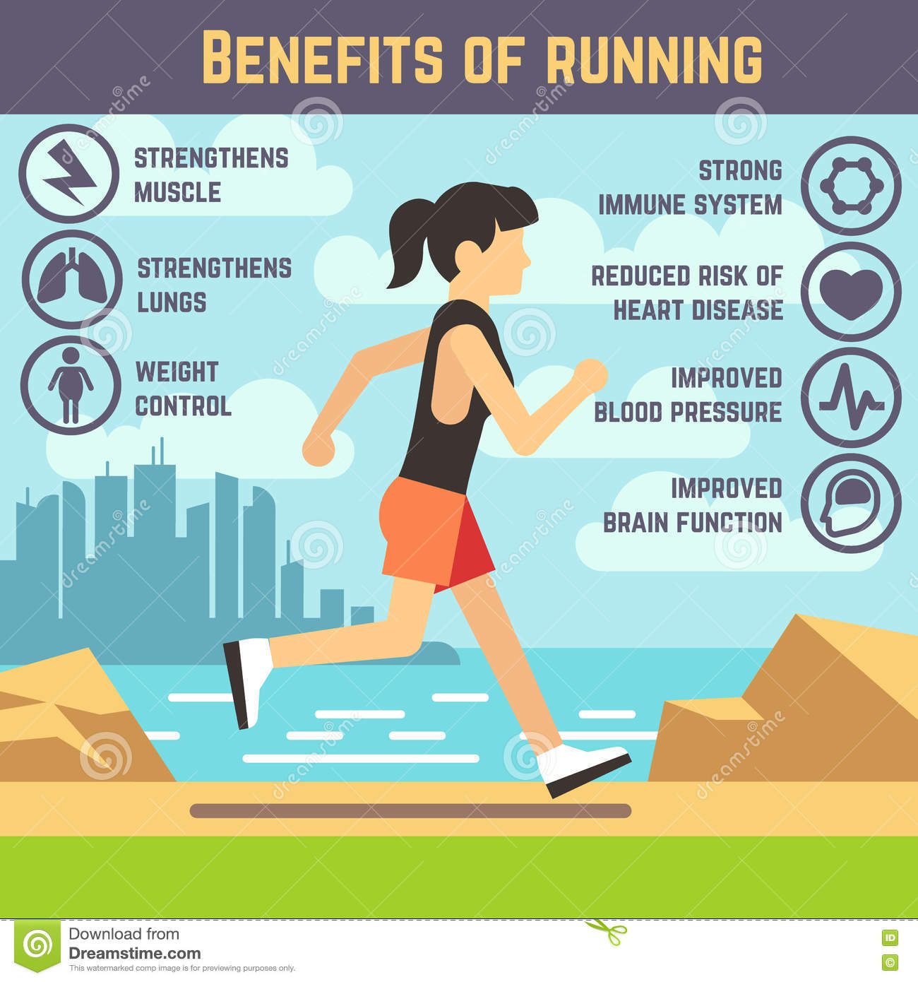Exercise Infographics Cartoon Vector