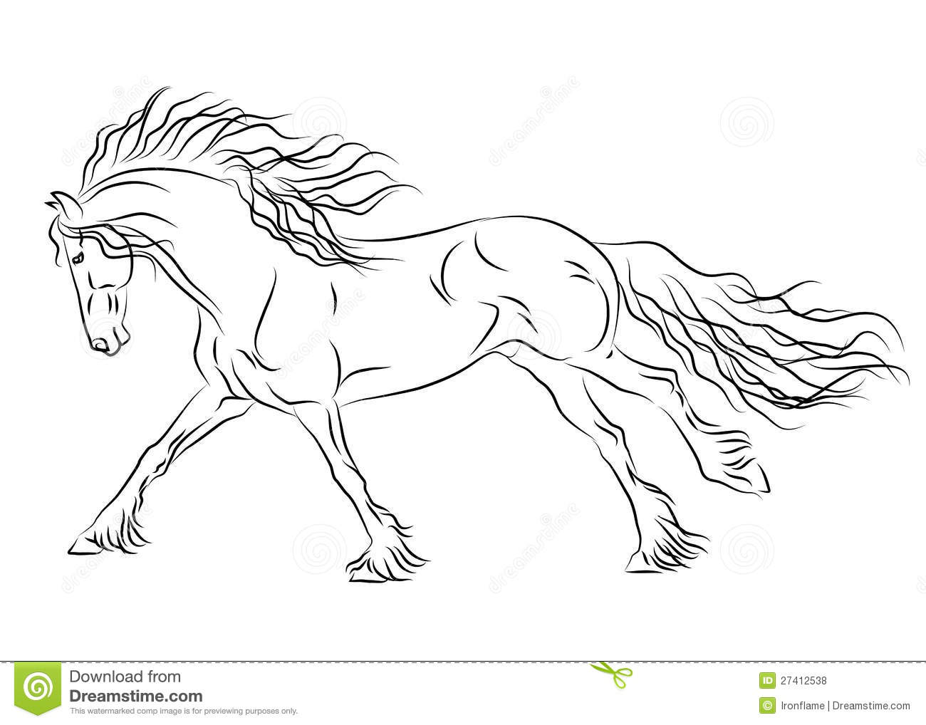 how to draw a realistic horse rearing step by step