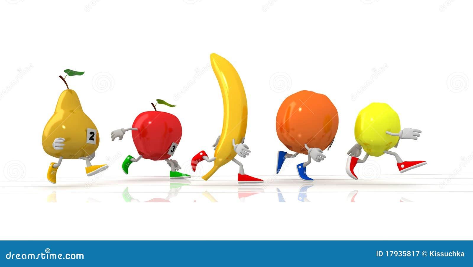 Running Fruit Royalty Free Stock Photography Image 17935817