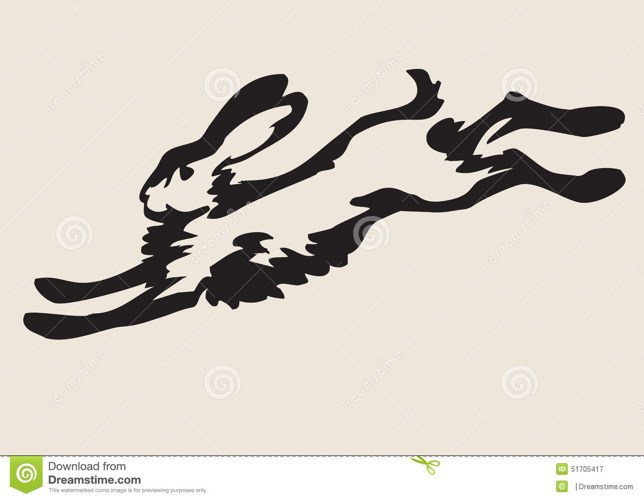 Hare running drawing - photo#25