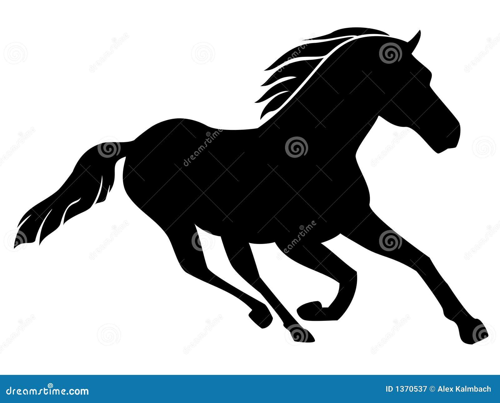 Quarter Horse Running Silhouette Quarter Horse C...