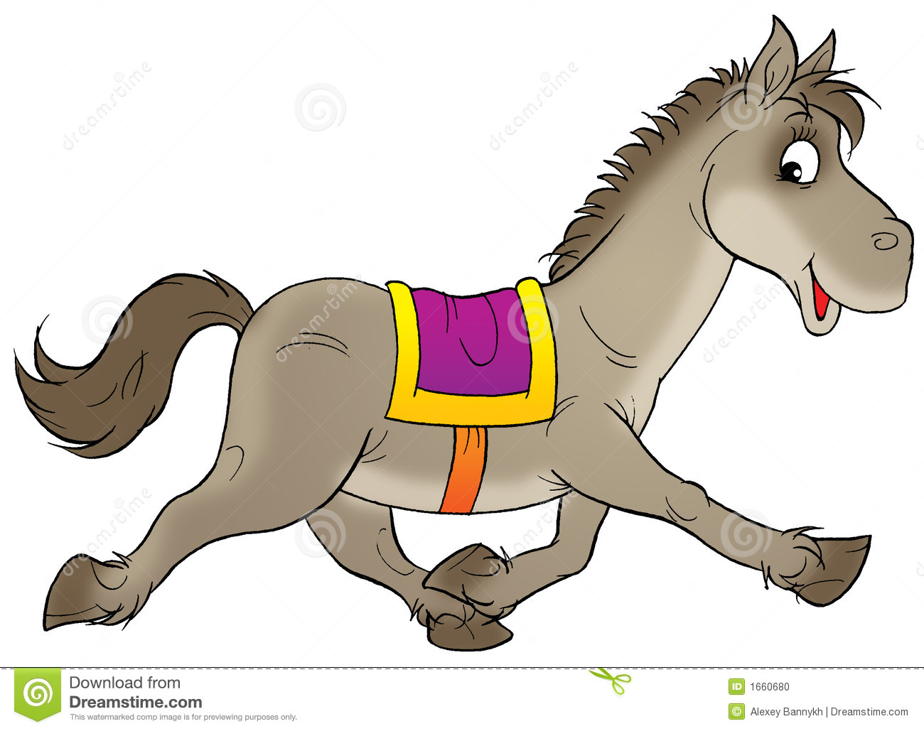 running horse stock illustration illustration of children 1660680 rh dreamstime com running horse clipart black and white running horse clipart free