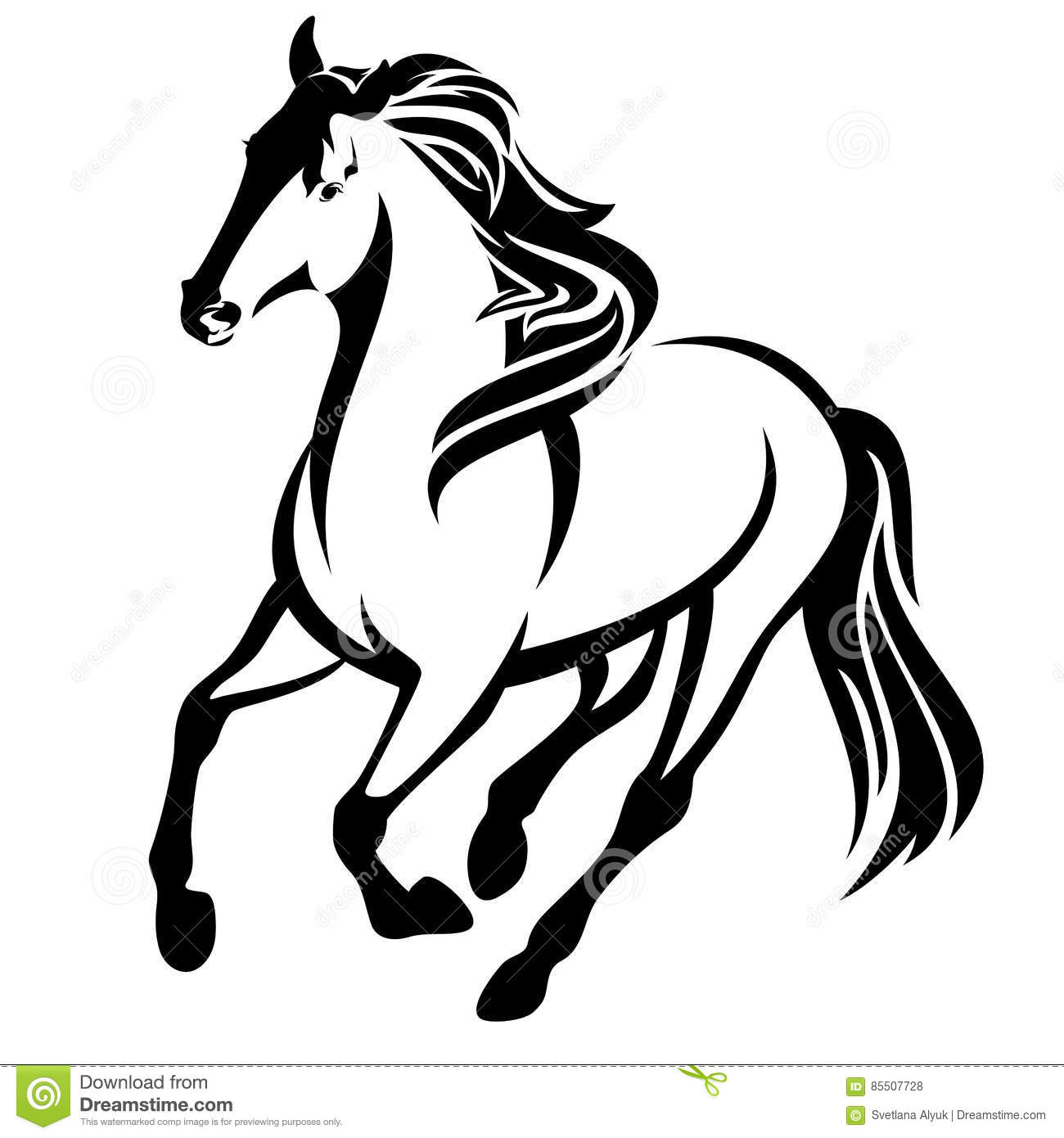 black horse vector vector illustration cartoondealer com stallion clipart black and white stallion clipart black and white