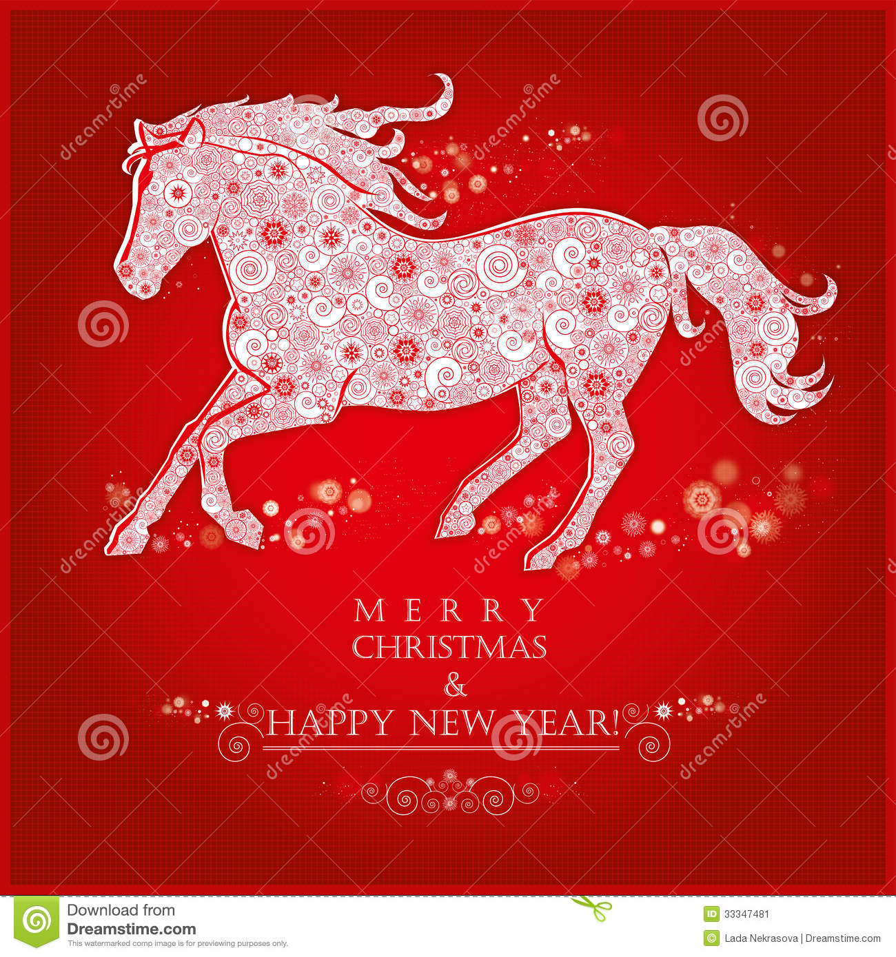 running horse on bright red background stock vector