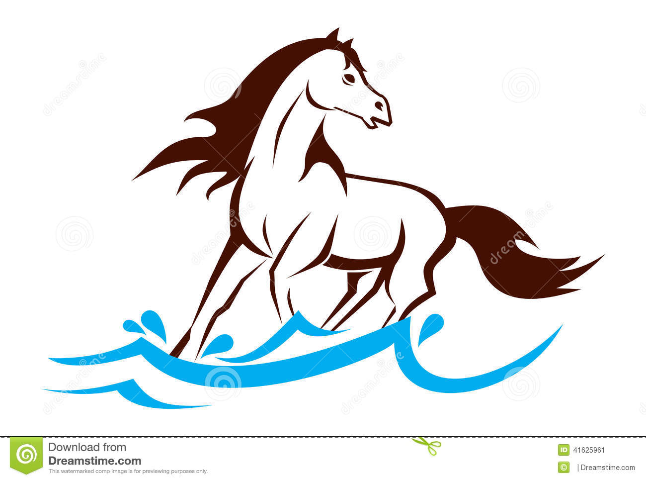 The Running Horse Stock Vector Illustration Of Drops 41625961
