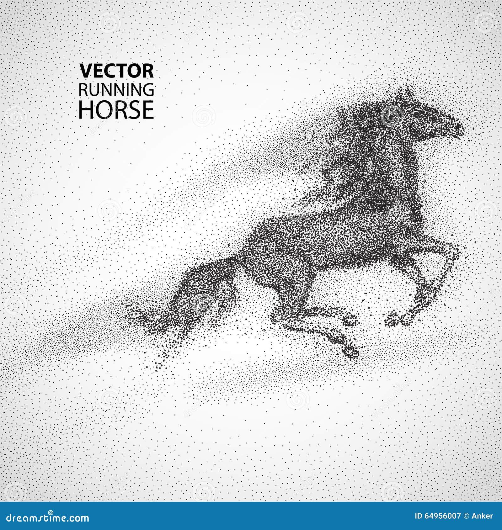 running horse design