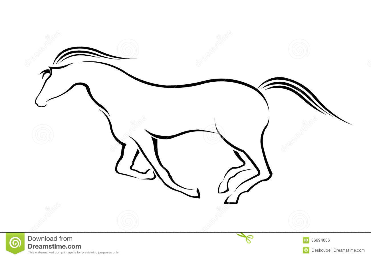 Running Horse Silhouette Stock Vector Illustration Of Jumping 36694066