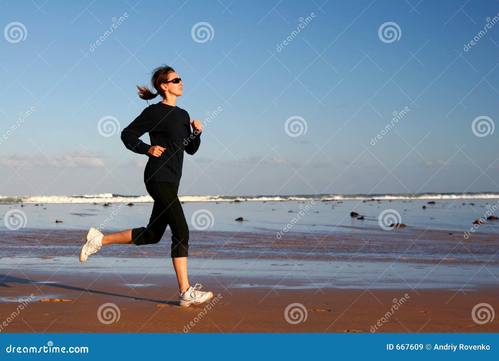 Running kvinna