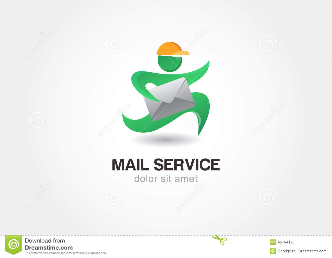 Running Man With Postal Envelope. Courier With Parcel. Mail Serv ...