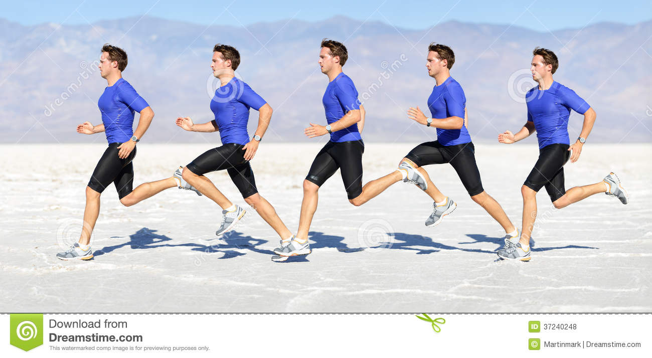 Running man - runner in speed showing sprinting motion. Male sport ...
