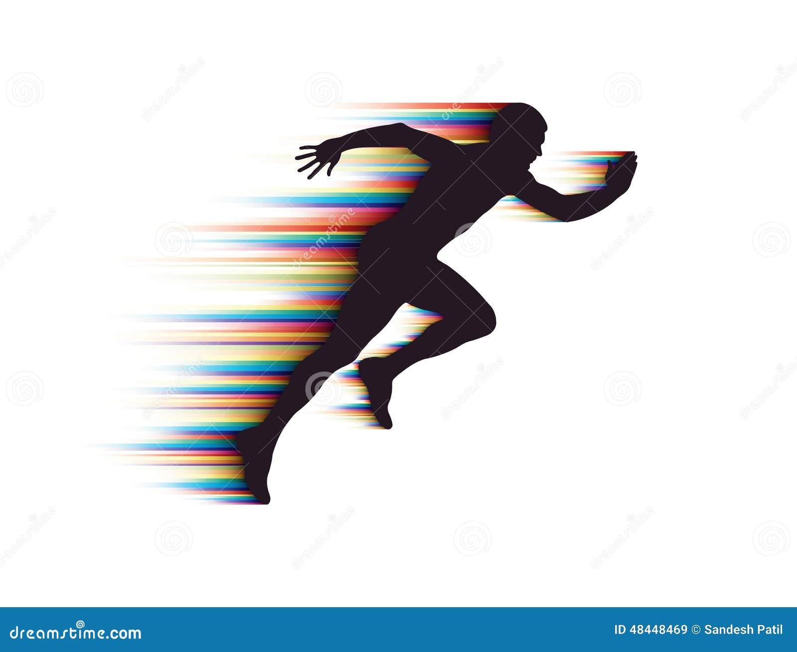 Running Man stock vector. Illustration of horizon, freedom ...