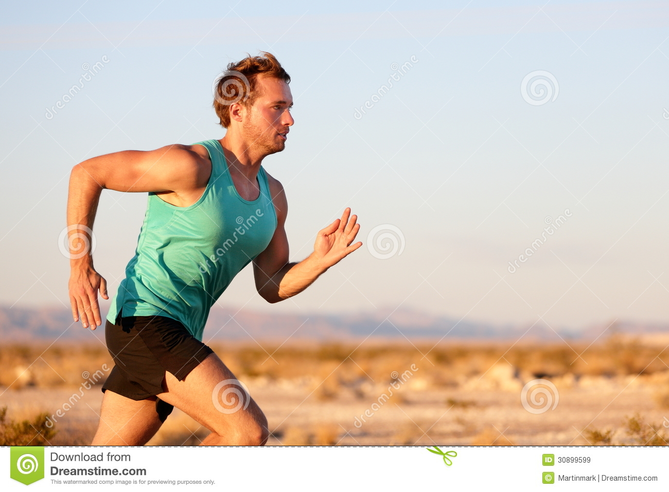 Running Man Sprinting Cross Country Trail Run Royalty Free ...