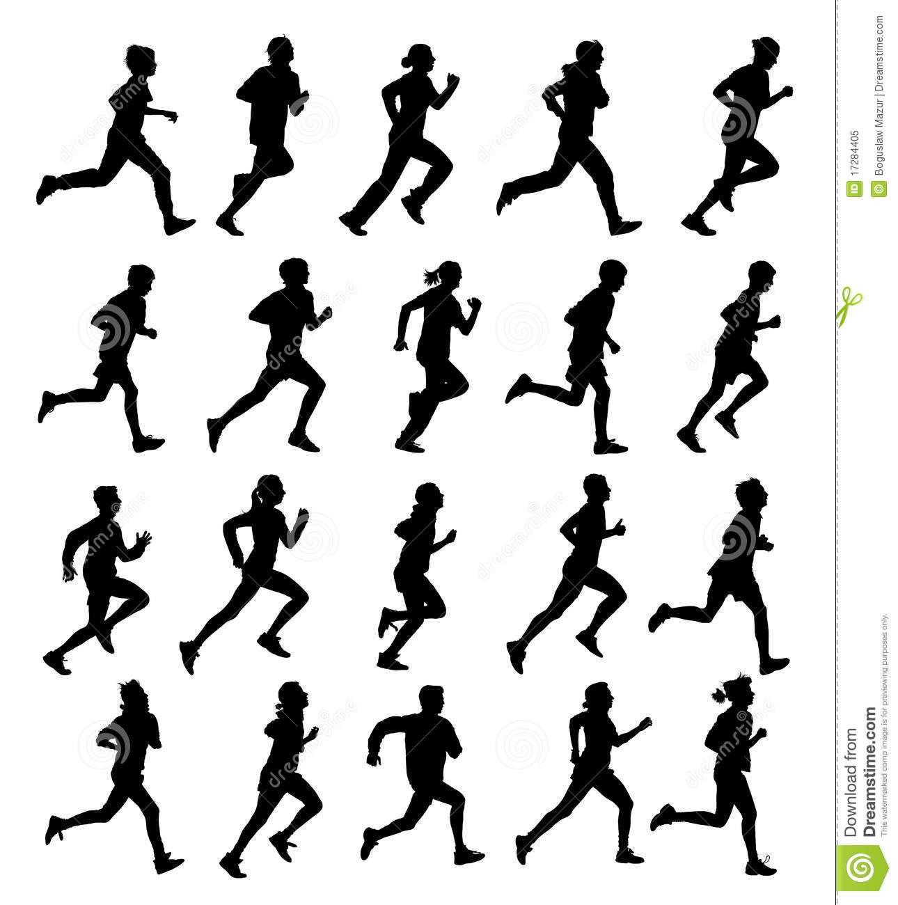 Running People Royalty Free Stock Photo - Image: 17284405