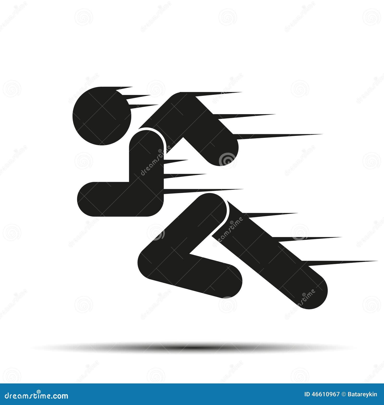 Running people in motion simple symbol of run stock for Illustration minimaliste