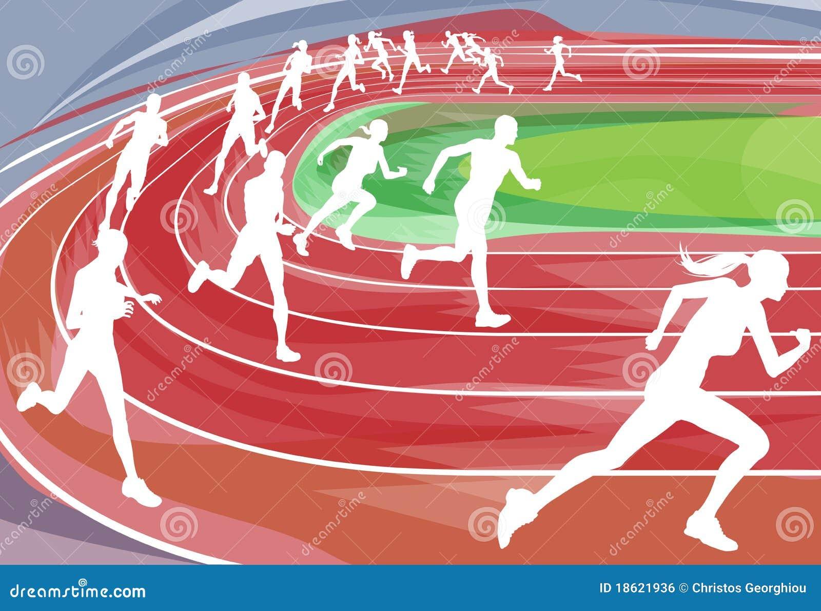 running race on track stock vector illustration of runner clip art free pics runner clip art images