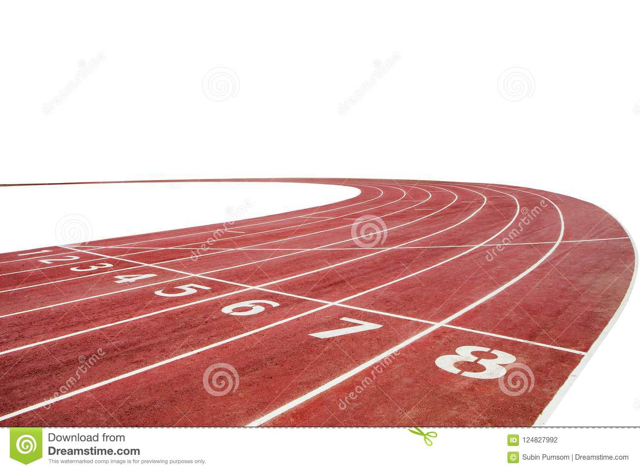 running race track background with white stock photo image of