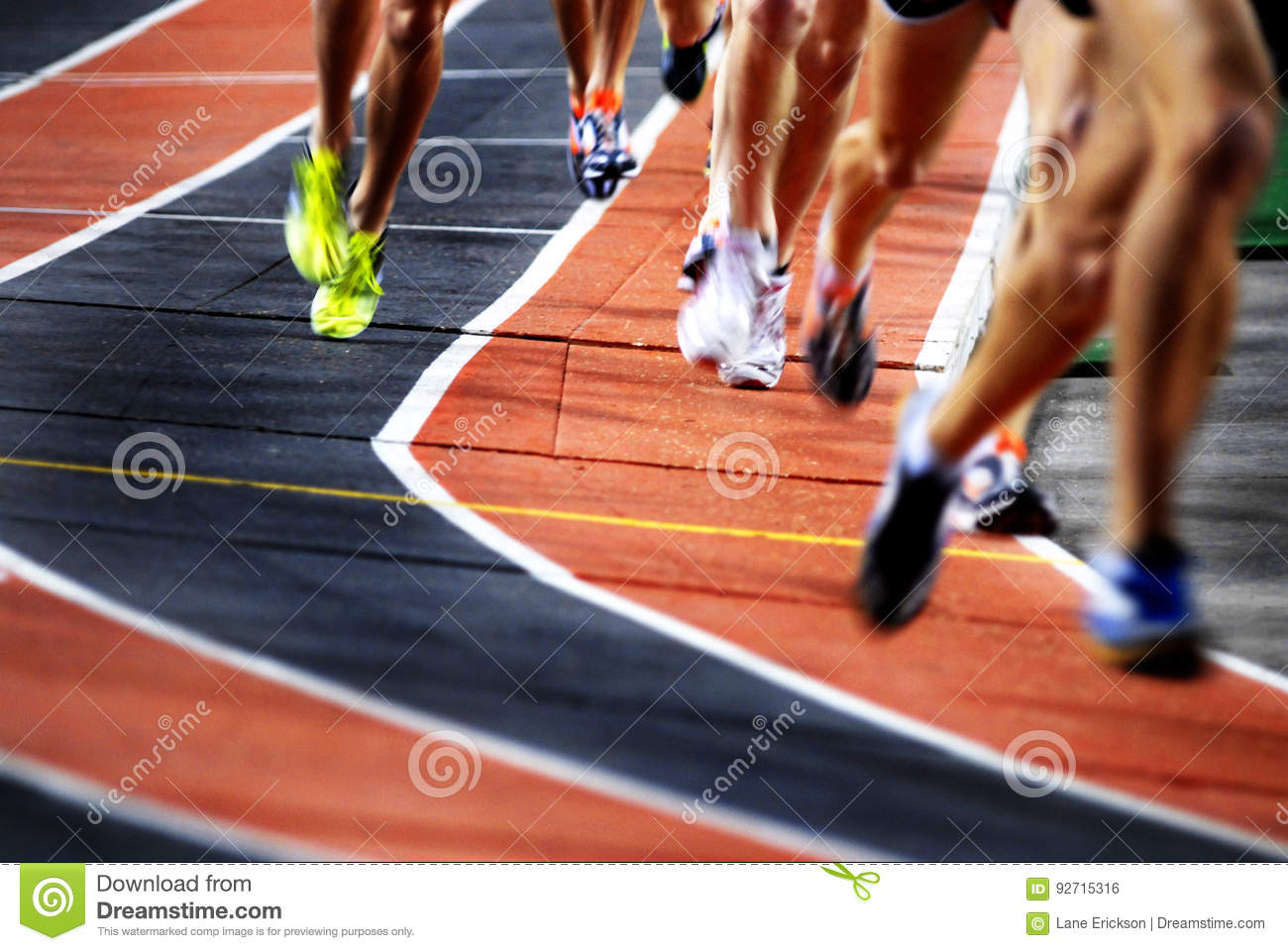 Running a Race on a Track Sports Competition