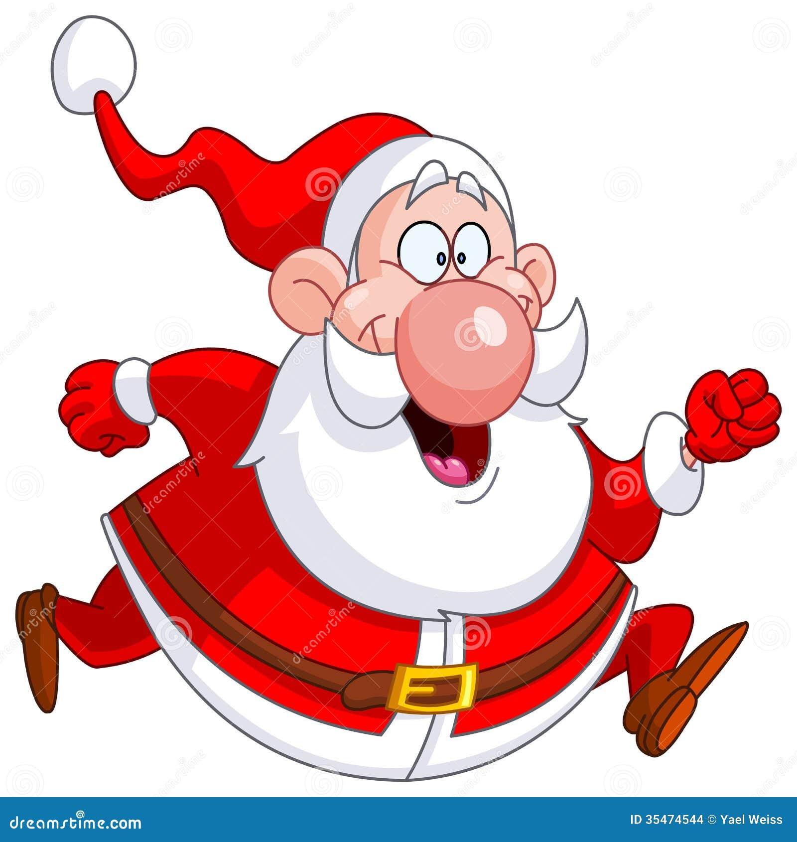 Running santa stock vector illustration of christmas for Immagini vector