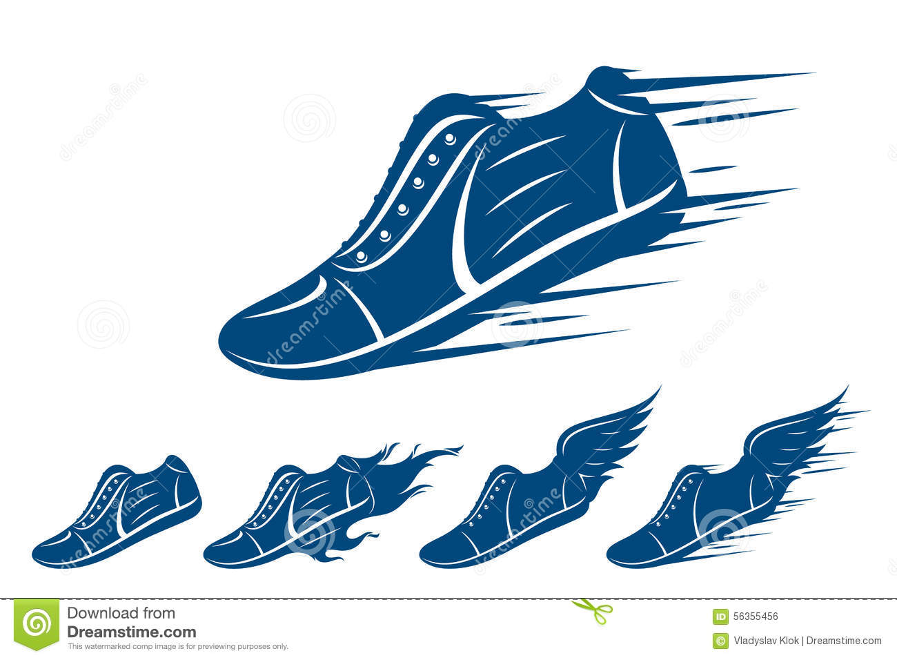Running Shoes Fire Vector Art Free