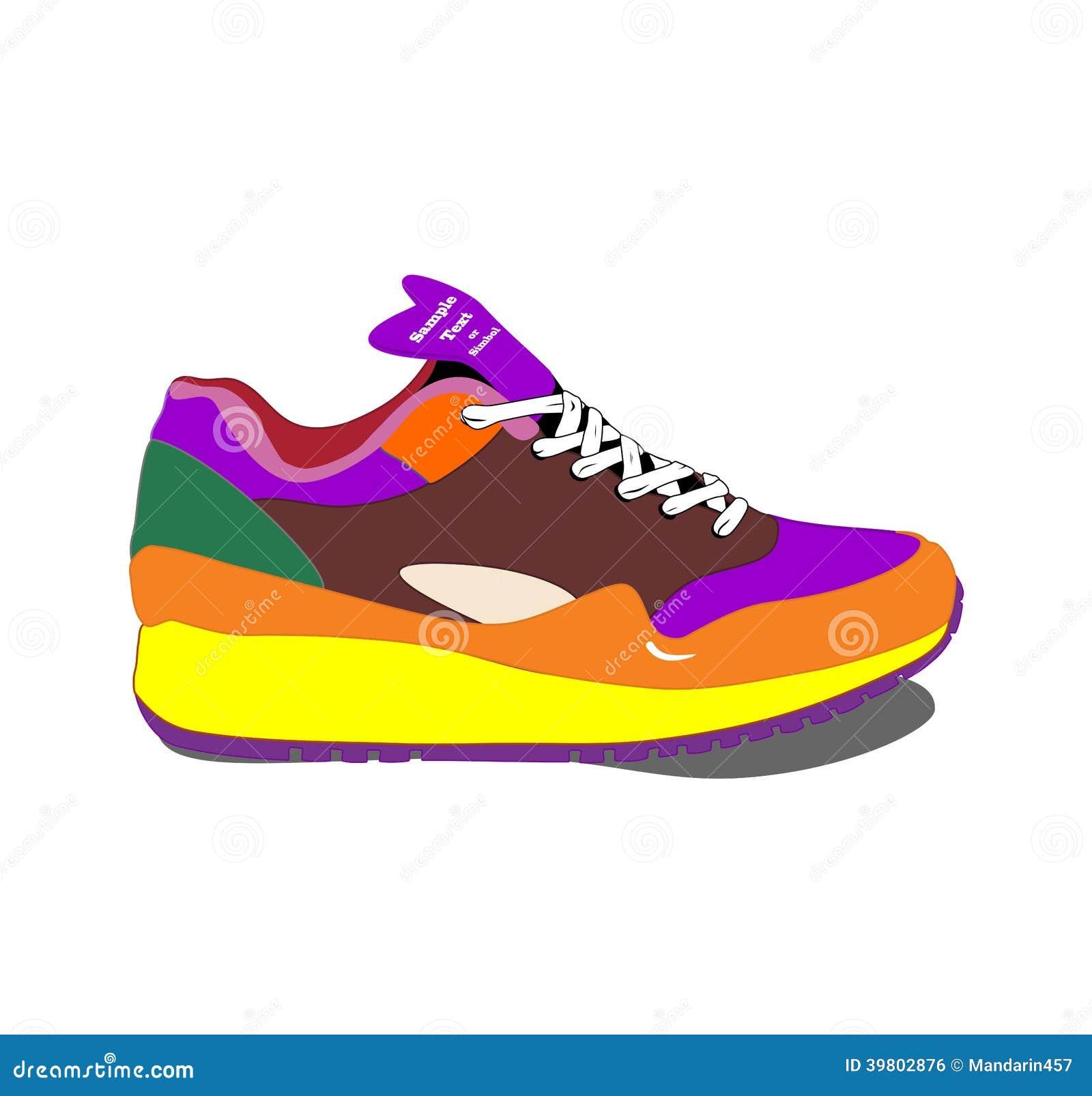 Vector Running Shoe Template