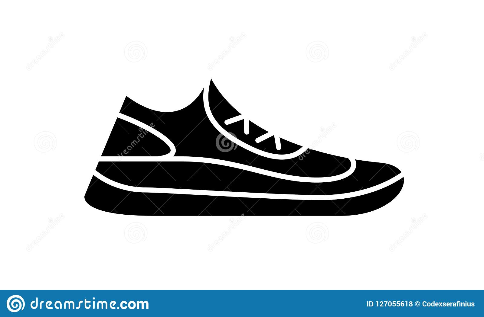 Running Shoes Icon Fitness. Simple Style Sneaker. Stock