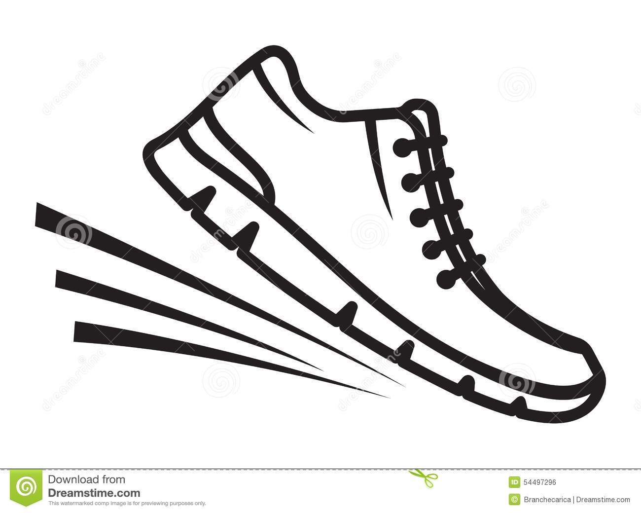 running shoes icon stock illustration illustration of