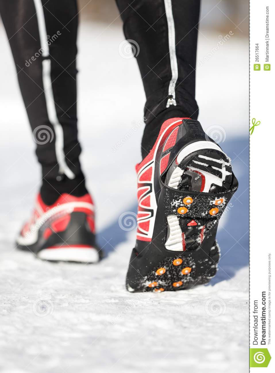Ice Cleats For Shoes >> Running Shoes Traction Soles Stock Images - Image: 26517664